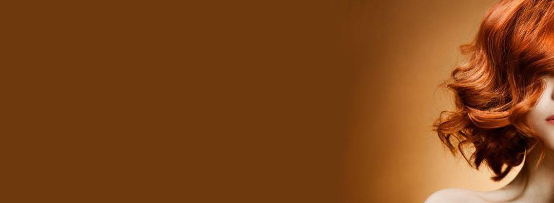 Cabelo de cobre e laranja